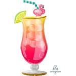 "Foil Balloon-Supershape-Flamingo Straw Drink-41"""