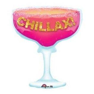 Foil Ballon-Tropical Magarita Chilllax!-28''x23''