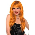 Hair Wig-Neon Orange-1count