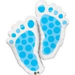 Foil Balloon-Supershape-It's a Boy Baby Footprints