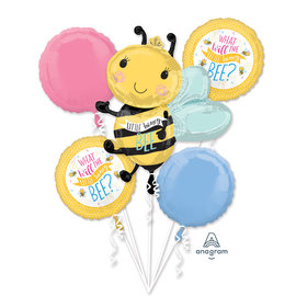 Foil Balloon-5pcs Bouquet-What will the Honey Bee?