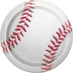 "Luncheon Paper Plates-Baseball-8pk 9"""