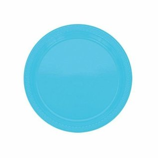 "Luncheon Plastic Plates-Caribbewan Blue-20pk-9"""