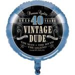 """Foil Balloon-Vintage Dude 40-18"""""""