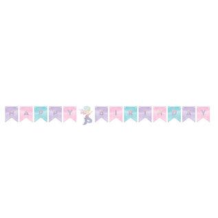 "Shaped Ribbon Banner-Mermaid Shine-5.37ft x 6"""
