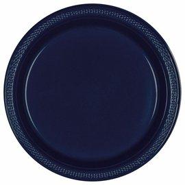 Plates-L/P-True Navy Plastic-10 1/4