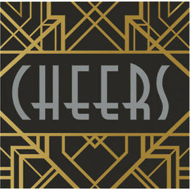 "Bev Napkins - Cheers/9.8""x9.75""/16 count"