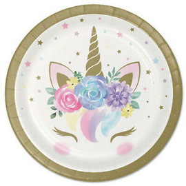 Beverage Plates-Unicorn