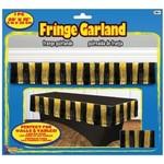"Garland - Gold & Black /  1 Pc 20' x 15"""