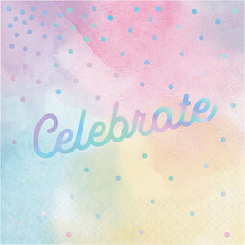 Luncheon Napkins-Celebrate-Iridescent