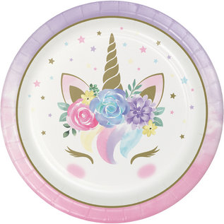 "Luncheon Paper Plates-Unicorn Baby-9""-8 Count"