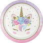 Luncheon Plates-Unicorn Baby