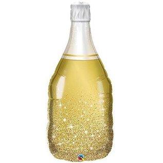 "Foil Balloon-Supershape-Golden Bubbly Champagne Bottle-39"""