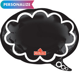Foil Balloon-Supershape-Personalizable Chalk Board Thought Bubble