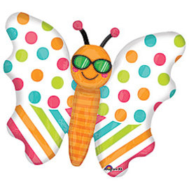 Foil Balloon-Supershape-Cool Glasses Butterfly