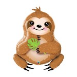 Foil Balloon-Supershape-Snacking Sloth