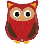 Foil Balloon-Supershape-Woodland Owl