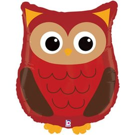 Foil Balloon-Supershape-Woodland Owl