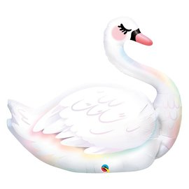 Foil Balloon-Supershape-Graceful White Swan