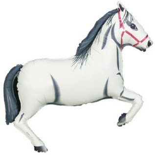 Foil Balloon-Supershape-Grey and White Racing Horse