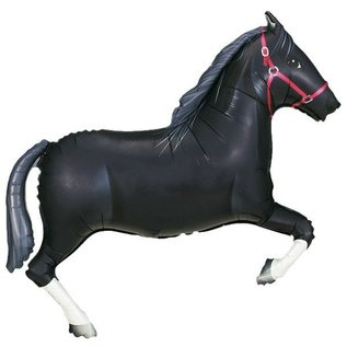 Foil Balloon-Supershape-Black Racing Horse