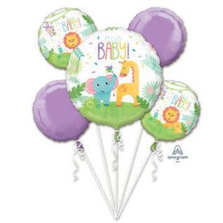 Foil Balloons-5pck Bouquet-Fischer Price Hello Baby