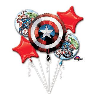 Foil Balloons-5pck Bouquet-Avengers SHIELD