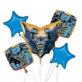 Foil Balloons-5pck Bouquet-New Gen Batman