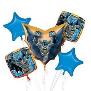 Foil Balloons-5pck Bouquet-New Gen Batman
