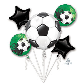 Foil Balloon-Soccer Boquet-5pk