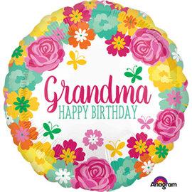 Foil Balloon-Happy Birthday-Grandma