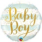 Foil Balloon-Standard-Baby Boy-Blue and Gold