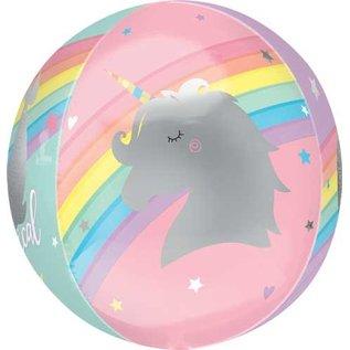 Foil Balloon-3D Orbz-Magical Pastel Unicorn