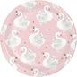 Plates-Beverage Plates-Stylish Swan-8 Count
