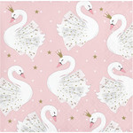Beverage Napkins-Stylish Swan Party