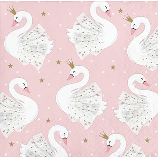 Beverage Napkins-Stylish Swan Party