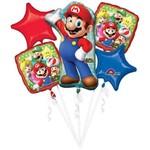 Foil Balloon-5pc Bouquet-Super Mario Bros