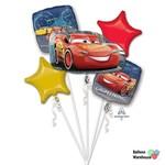 Foil Balloon-5pc Bouquet-Cars 3