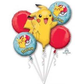 Foil Balloon-5pck Bouquet-Pokemon Core
