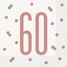 Luncheon Napkins-60th Birthday