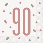Luncheon Napkins-90th Birthday