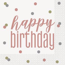 Beverage Napkins-Happy Birthday