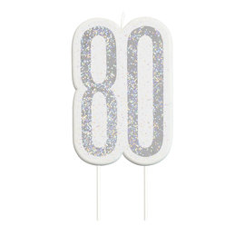 Candle-Glitter-80th Birthday