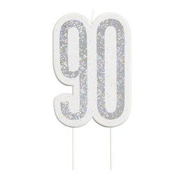 Candle-Glitter-90th Birthday