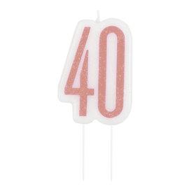Candle-Glitter-40th Birthday