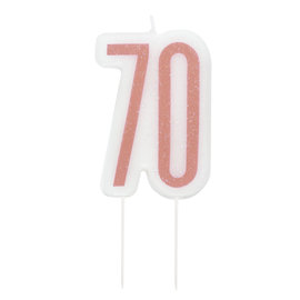 Candle-Glitter-70th Birthday