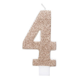Candle-Rose Gold-Numerical #4