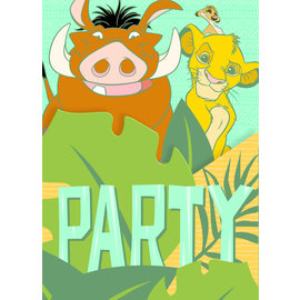 Invitations-Lion King-8pkg