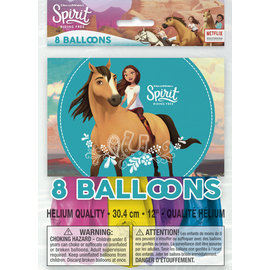 Balloons-Latex-Spirit Riding Free-8pkg-12""