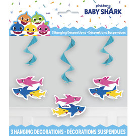 Hanging Decorations-Baby Shark-3pk